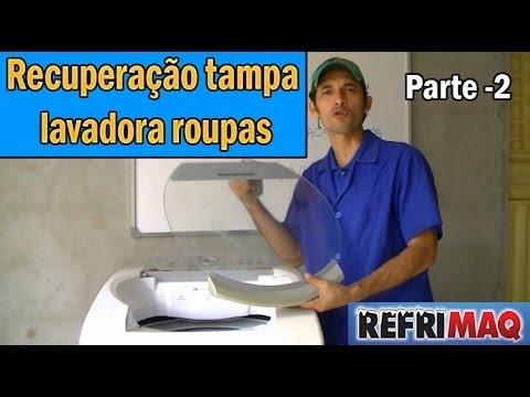 Como colar tampa vidro maquina de lavar # Parte 2