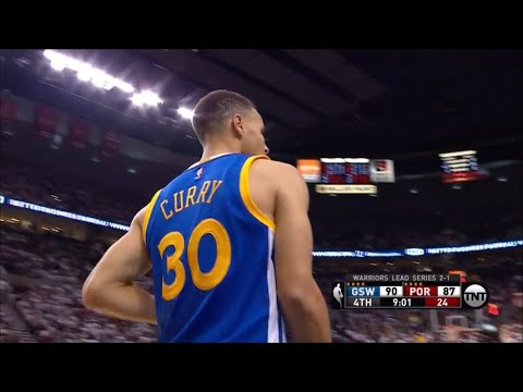 Stephen Curry #I'M BACK! ( 40 PTS, 9 reb, 8 ast ) VS Blazers (5-9-2016)