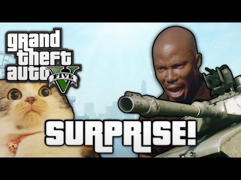 GTA V: SURPRISE MOTHERFUCKER! (GTA 5 Online Funny Moments)