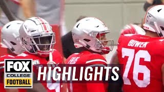 Watch Justin Fields' first passing TD for the Ohio State Buckeyes | FOX COLLEGE FOOTBALL HIGHLIGHTS