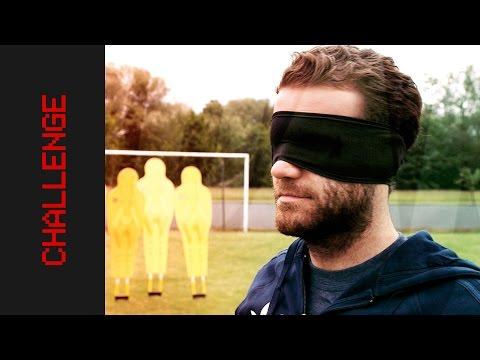 Blindfolded Free Kick Challenge | Juan Mata