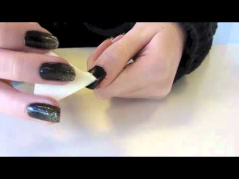 Ombre Nails Black Black And Gold Glitter Ombre