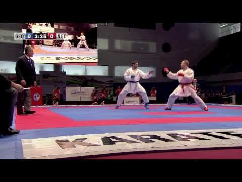 Gogita Arkania vs Timothy Petersen. Bronze Medal Kumite -84kg. 48th European Karate Championships