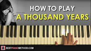 (17.3 MB) HOW TO PLAY - Christina Perri - A Thousand Years (Piano Tutorial Lesson) Mp3