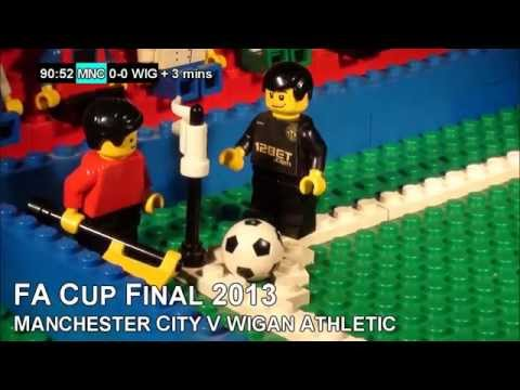 FA Cup Final 2013 (Wigan vs Man City) in LEGO