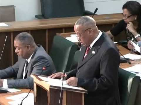 Disabilities Minister Derrick Kellier addresses Jamaica's Parliament 2012