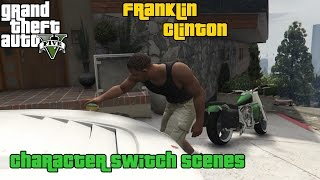GTA 5 ★ Character Switch Scenes ★ Franklin Clinton [ PS4 ]