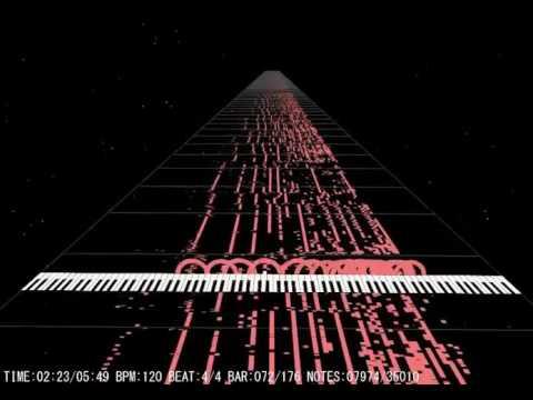 Auditory illusion - Bohemian Rhapsody converted into MIDI