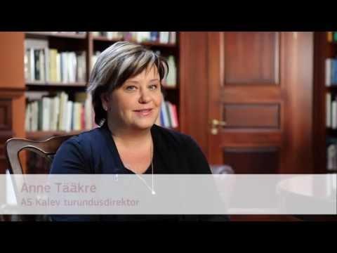 Miks valida TTÜ, AS Kalev turundusdirektor Anne Tääkre