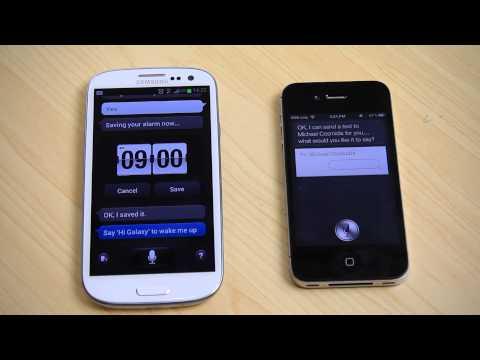 Galaxy S3 (S Voice) vs iPhone 4S (Siri)