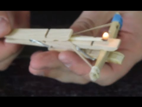 Mini Clothespin Crossbow