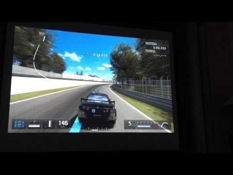 Using a Optoma H180x playing PS3 Gran Turismo 5 GT5