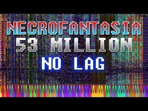 [Black MIDI] Necrofantasia 53 Million | NO LAG! - Piano From Above