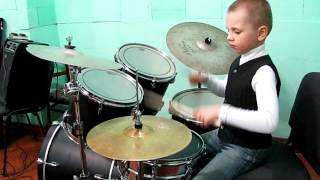 "Drummer Daniel Varfolomeyev - 8 years - ""Aria"" - ""Run for the Sun"""