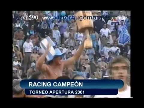 Tercera parte de un especial con los relatos de Víctor Hugo de los goles de Racing Club en el Torneo Apertura 2001.