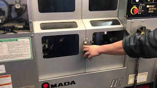 Amada Wasino Twin Spindle Autoload CNC Lathe  Model JJ1 with rotary stacker and gantry loader