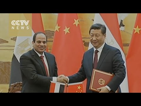 Xi Jinping meets with Egyptian president