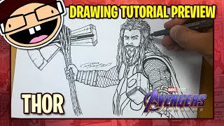 [PREVIEW] How to Draw THOR (Avengers: Endgame) | Tutorial Time Lapse