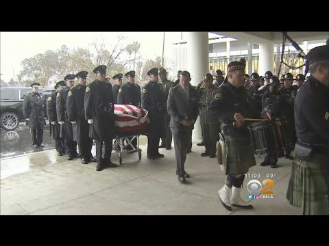Hundreds Honor Fallen Pomona Officer Greggory Casillas In Funeral Service