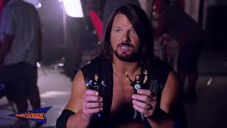 WWE Network: AJ Styles goes hands-on with Mattel's WWE Tough Talkers Championship Takedown Ring