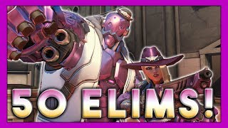 50 Elims Ashe Rampage! - Seagull - Overwatch