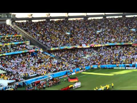 Brazil World Cup 2014-Germany -Ghana 2-2- National Anthems-Fortaleza - Arena Castelao