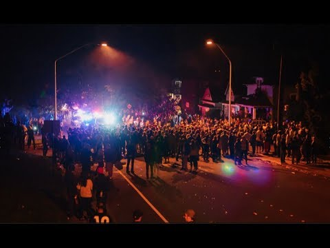 Washington University Riot Police Break Up Party In College Town (official Video) video