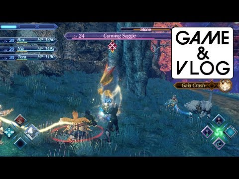 Xenoblade Chronicles 2 Direct Feed Gameplay: Cunning Saggie Boss Fight & Tardy Gate Landmark (1080p)