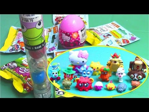 Hello Kitty Surprise Eggs. Mario Kart Wii. Squishy. Moshi Monsters Surprise Bags #2