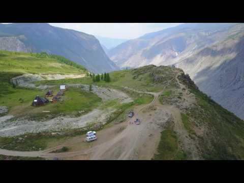 Перевал Кату-Ярык с снятый с квадрокоптера.