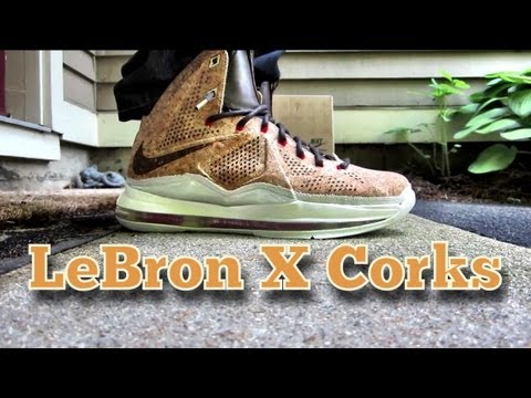Lebron X Cork   Replica Vs Authentic Comparison  amp  ReviewLebron X Cork Replica