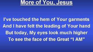 More of You Jesus (worship video w/ lyrics)