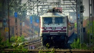 Fastest Electric and Diesel Locomotives WAP-5 and WDP-4 powered trains to Rajasthan!!