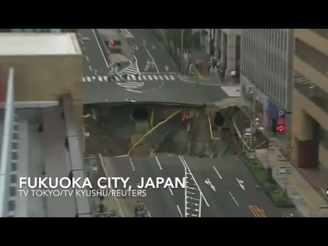 Street Collapses in Japan
