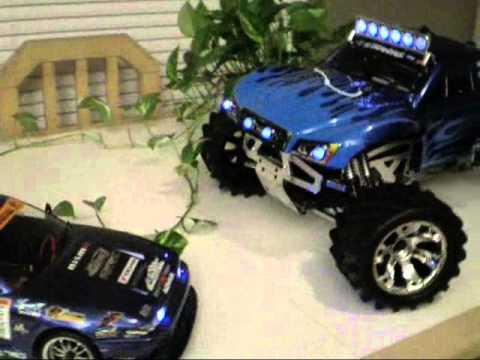 RC - Traxxas Slash body and Yokomo drift custom body with LED