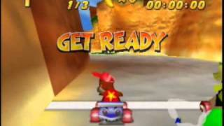 Diddy Kong Racing-Adventure Mode with Intelligent CPUS-Intro & Dino Domain Races-Part 1