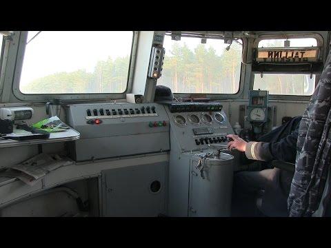 В кабине электропоезда ЭР2-1027 / In the drivers cab of ER2-1027 EMU
