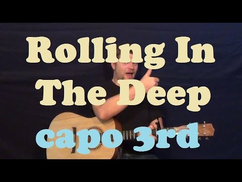 Rolling in the Deep (Adele) Easy Strum Chords Guitar Lesson How to Play Tutorial