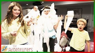 Toilet Paper Battle! I That YouTub3 Family The Adventurers