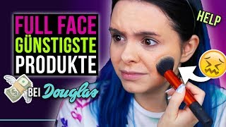 Oh oh... 👀 GANZES MAKE UP mit den GÜNSTIGSTEN Produkten von Douglas! - Full Face Cheapest Products