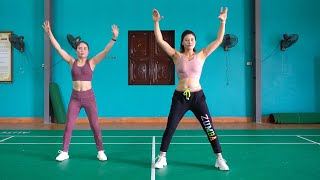 20 Mins Aerobic Workout For Weight Loss - Easy Fat Burning Exercises | Eva Fitness