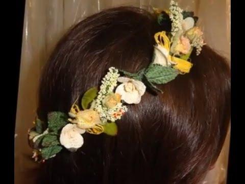 Corona de flores novias o comunion youtube - Coronitas de flores ...
