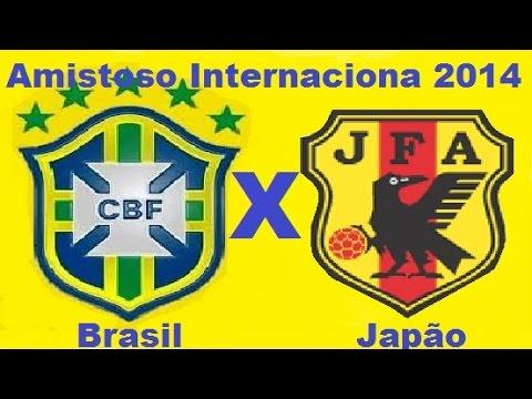 Brasil 4 x 0 Japão - Amistoso Internacional 14/10/2014 - Jogo Completo TV Globo