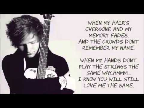 Thinking Out Loud By  Ed Sheeran LYRICS