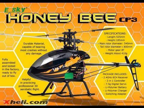 ESky Honeybee CP3 Heli Review & 3D Flight Test by Tony