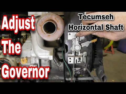 How To Adjust The Governor On A Tecumseh Horizontal Shaft Engine with Taryl