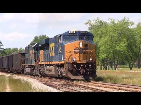 CSX ES44AH & SD60-2: Dusty coal train caught in strong crosswinds (4 Locations)