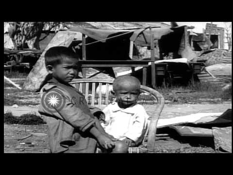 U.S. Forces occupying  Baguio City, Philippines, during World War II HD Stock Footage