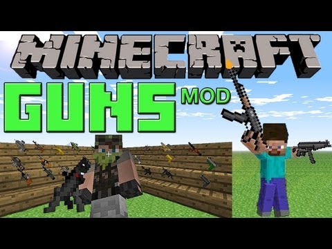 GUN Mod :: Snipers, AK47, Flame Thrower (Review) :: Minecraft 1.2.5
