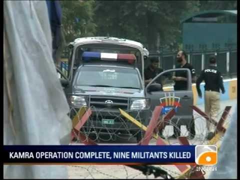 Geo News Summary Nine Militants Killed In Kamra Air Base Attack